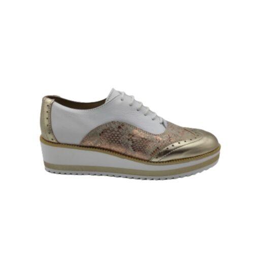 Zapato cuña mujer blanco salmón Cardel