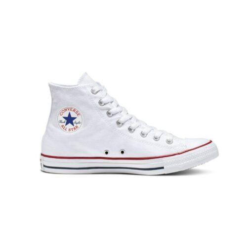 deportivo bota lona blanca Converse