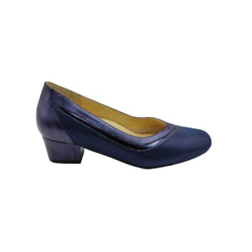 Zapato corte salón azul Doctor Cutillas