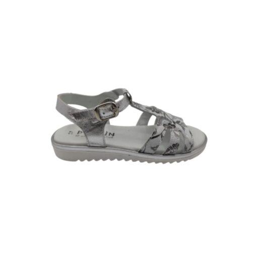 Sandalia combinada blanco-plata Pirufin