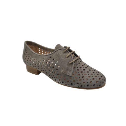 zapato mujer cordón calado topo Ragazza